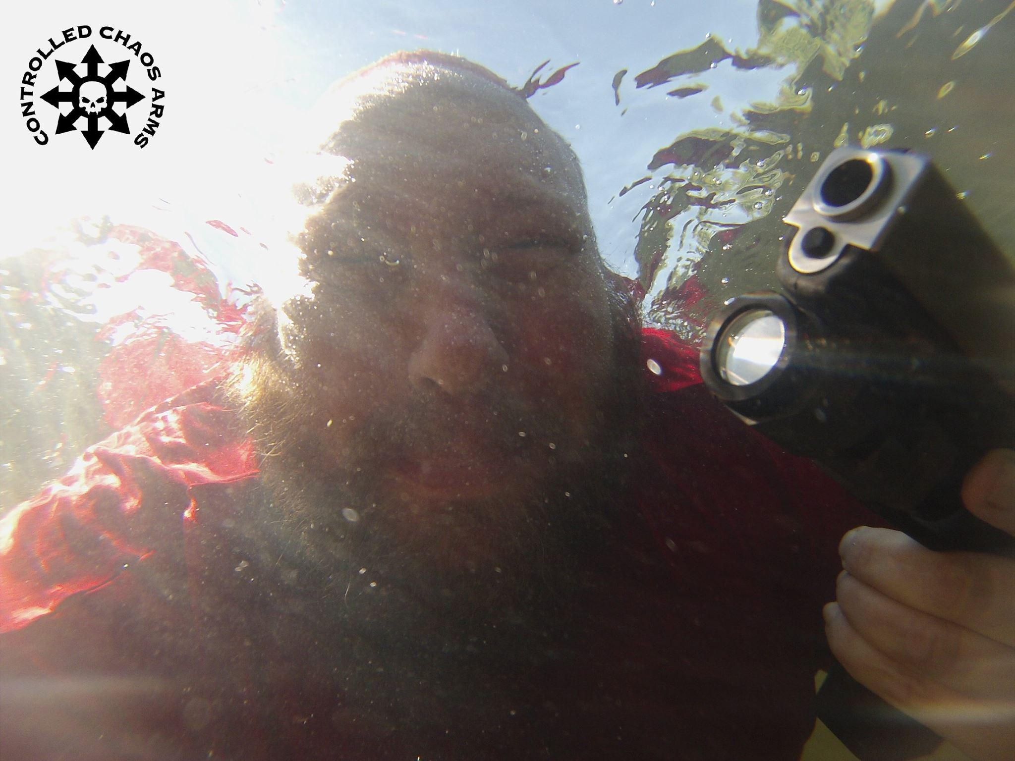 Yes, Glocks shoot underwater.  Even when chambered in 50GI.