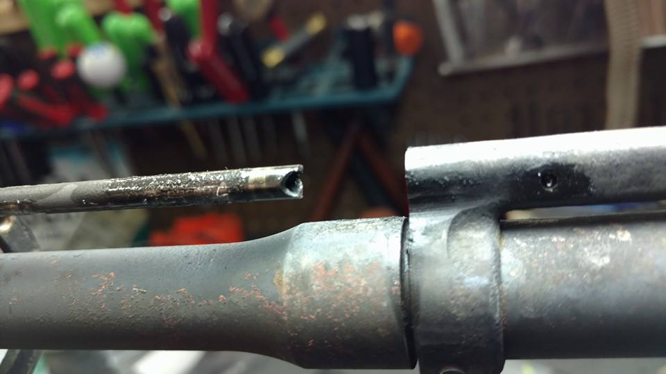 Broken gas tube with weapon still functioning