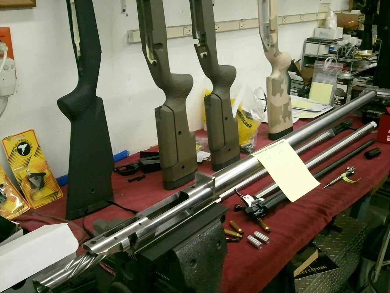 Final assembly of custom rifles